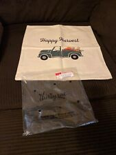 NEW Thirty-One Canvas Pillow Cover 18x18 Happy Harvest Truck Farm Theme Tractor