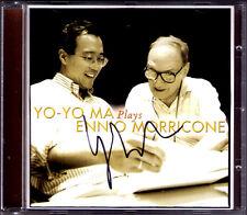 Yo-Yo MA Signed PLAYS ENNIO MORRICONE The Mission Cinema Paradiso Lady Caliph CD