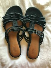 UGG WOMEN'S BLACK STRAP SANDALS, SIZE 10