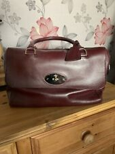 Authentic Mulberry Del Ray In Burgandy Or Oxblood Handbag Bag