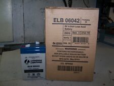 NEW LITHONIA LIGHTING REPLACEMENT LEAD ACID BATTERY 6 VOLT 4.0AH  ELB06042