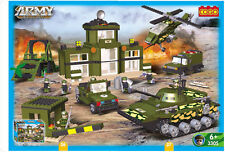 COGO-Military Series Armoured Car Helicopter Tank 961pcs Building Block Sets
