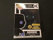 Funko Pop! DC Aqua Man Glow in the Dark Silhouette Entertainment Earth