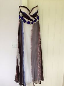 Exquisite Javani Ball Gown, Chiffon, size 10, sleeveless