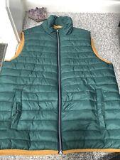 Izod Quilted Mens Vest Hunter Green Sz M New
