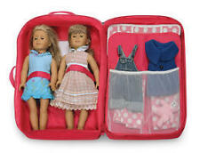 Badger Basket Double Doll Travel Case w/Bunk Bed and Bedding - Dark Pink-13950