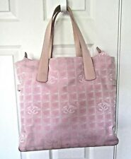 Authentic Chanel Traveline Pink  Tote  Bag