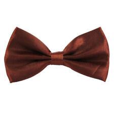 Accessoires cravates marrons en satin pour homme