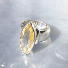 Citrin Ring, 925er Silber, Edelsteinring (20605), Edelsteinschmuck, facettiert