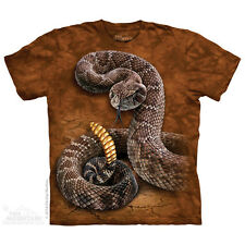 MEN'S T-SHIRT RATTLESNAKE  MULTICOLORED STONEWASHED GRAPHIC TEE  SIZE SMALL