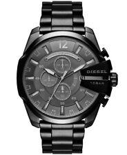 NEU Diesel DZ4355 Mega Chief XXL Herren Uhr Chronograph Edelstahl Schwarz OVP