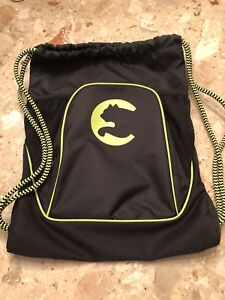Puma Carrysack Black Green Large Front Pocket Adjustable Strap Mesh Side Pocket