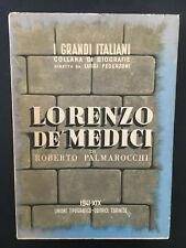 Roberto Palmarocchi, Lorenzo de' Medici, UTET, 1941