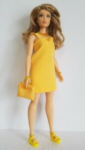 Fits CURVY BARBIE Fashionistas CLOTHES Dress Purse & Jewelry Fashion NO DOLL d4e