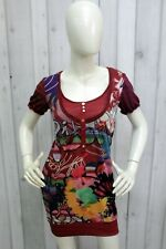 DESIGUAL Vestito Donna Taglia S Abito Tubino Dress Woman Elegante Kleid Robe