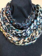New! Isaac Mizrahi Sutton Yarn! Gurglefish Handmade Crocheted Circle Scarf~2X80