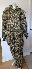 VINTAGE EDDIE BAUER EXPEDITION GOOSE DOWN HUNTING CAMO COVERALLS SIZE L MINT!