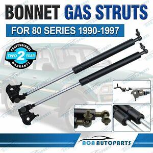 1 Pair Front Bonnet Gas Struts for Toyota Landcruiser 80 Series 1990-1997 Lift