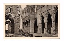 Wales - Tintern Abbey, Nave Looking East -  Vintage Postcard