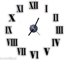 Hágalo Usted Mismo Reloj De Pared personal la Decoración del Hogar 3d sin marco Romano pegatina
