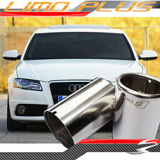 Audi A4 B8 09 - 14 2x 304 Stainless Steel S Line Exhaust Pipe Muffler Tips od7