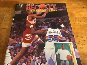 BASKETBALL BECKETT MONTHLY MAY 1992 ISSUE #22 STACEY AUGMON Cover (R)
