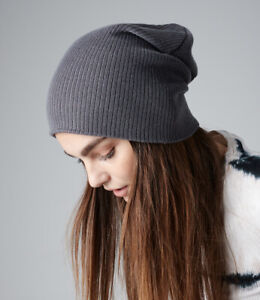 Mens Ladies Slouch Beanie Hat Knitted Woolly Oversized Skateboard Unisex Womens