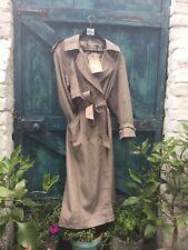 Womens Trench Coat Size XL UTEX vintage Flasher Mac Beige Raincoat Unique VGC