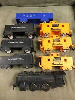 Vintage Marx Train Lot. 1 Locomotive & 7 Cars.