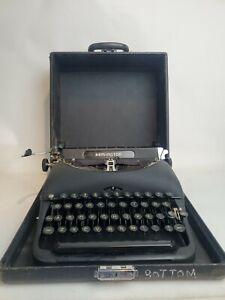 Vintage Remington Model 5 Portable Typewriter With Case Works! -WA2
