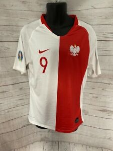 Nike Vaporknit Poland Polska Team Jersey Football Lewandowski Soccer #9 Size XL