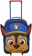 Paw Patrol Pup Character 3d Ears Childrens Boys Kids Trolley Travel Backpack Bag