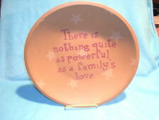 """Baibara Lloyd Wood Plate """"There is nothing quite as powerful as a family's Love"""""""