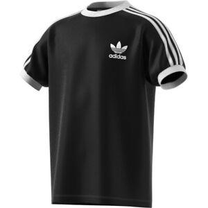 Adidas Originals 3-Stripes Kids Youth T-Shirt Black-White dv2902