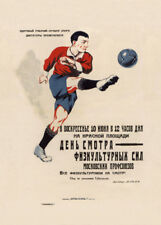 ATHLETIC TRYOUTS MOSCOW TRYOUTS Art Deco Football Sports A3 Poster