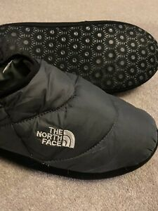 North Face Gents Mens Slippers Tent Mules Size 11 Grey Black