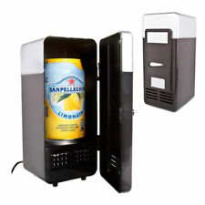 USB Mini PC Fridge Refrigerator Portable Small Drink Cans Beverage Cooler Warmer