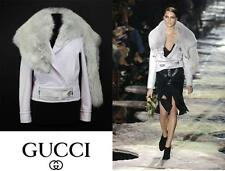 RARE TOM FORD for GUCCI  F/W 2004 COLLECTION WOOL GRAY FOX COLLAR JACKET 42 - 6