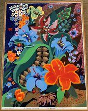 Mid Century Modern Pop Art Flowers Enamel Painting - Artist Noel Spangler