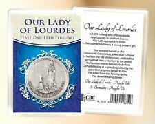 LADY OF LOURDES POCKET TOKEN & CARD - RELIGIOUS STATUES CANDLES PICTURES LISTED