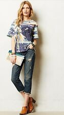 NEW $269 Koral Crop Relaxed Skinny Jeans Size 29 Destroyed