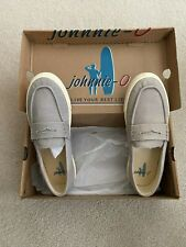 """Nwt Johnnie O ~ Men's Canvas """"Sloafer Shoes"""" Size 9 M Surfer Casual Deck Shoes"""