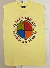 Vintage 1983 Talking Heads Tours Sleeveless T-Shirt Speaking in Tongues - Large