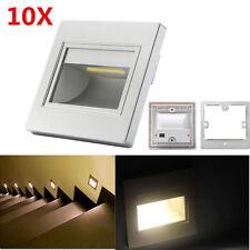 10 x 2,5W warmweiß 230V LED Wandeinbauleuchte Stufenleuchte Treppenlicht Lampe