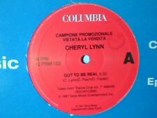 "CHERYL LYNN Got to be real MICHAEL ZAGER BAND Let's all chant 12"" ITALY PR0M0"