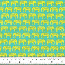 100% Cotton Print Fabric FQ Indian Elephant Retro Dress Quilting FabricTime VK97