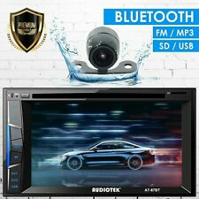 """6.2"""" 2DIN Car Radio Stereo CD DVD Player Bluetooth Touchscreen AUX USB MP5 + CAM"""