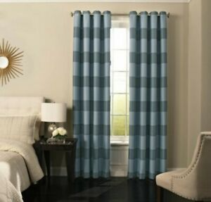 "Beautyrest Gaultier Blackout Window Curtain 100% Polyester Blue 52"" X 108"" NEW"