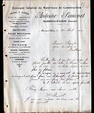 """BUSSEAU-d'AHUN (23) MATERIAUX de CONSTRUCTION """"Henri LOMBARD / Antoine SIMONET"""""""