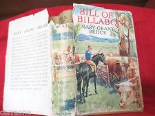 Billabong #10 Mary Grant Bruce BILL OF BILLABONG C1948 HCDJ  vintage collectable